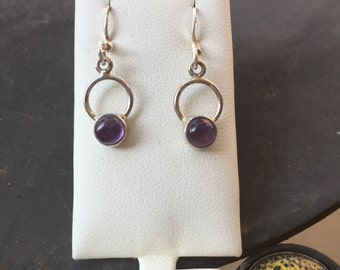 Silver amethyst earrings