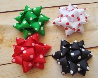 Gift bow hair clip, Christmas bow, Christmas