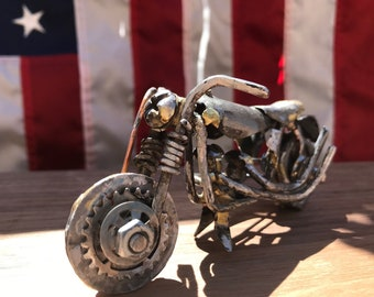 Steel Motorcycle Sculpture