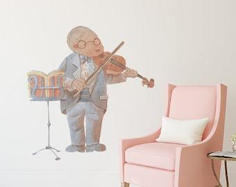 Mole Playing The Violin Wall Sticker