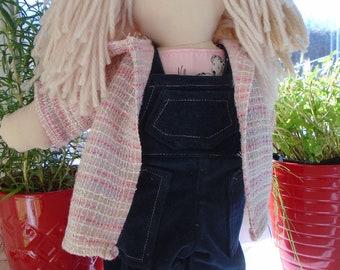 Handmade rag doll, 16 inches