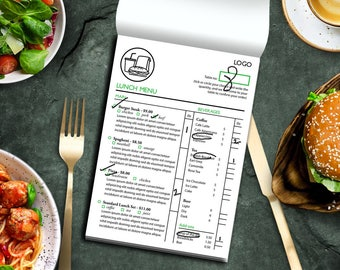 Table Menu Template - Breakfast, Lunch and Dinner Menu, Restaurant Menu, Cafe Menu, Editable Menu Template