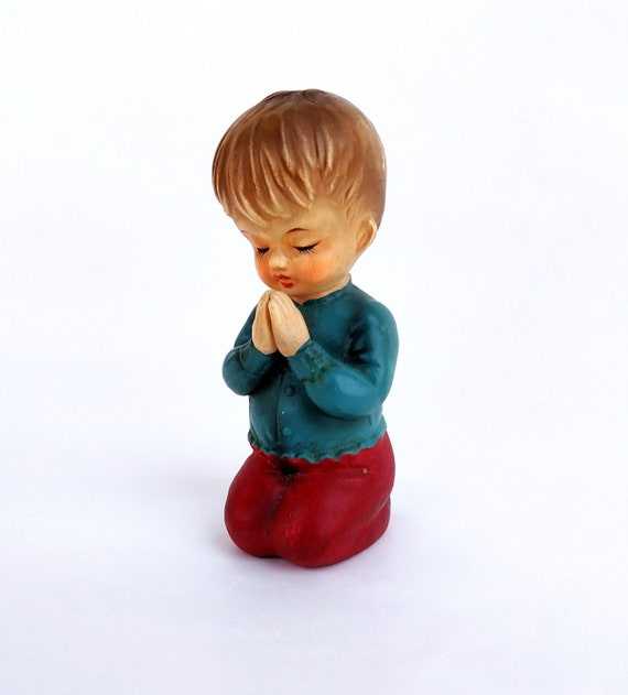 Vintage 1960's Praying Boy Figurine by Wales made in Japan