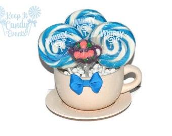 Oversized Tea Cup Lollipop Centerpiece, Tea Party Centerpiece, Tea Cup Centerpiece, Alice in Wonderland Centerpiece, Alice in Wonderland