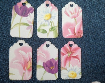 Set of 6 Gift Tags, Birthday tags
