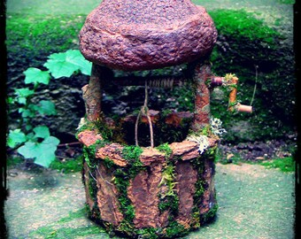 Fae wishing well of all natural materials custom order