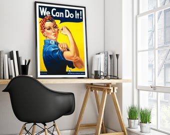 VINTAGE POSTER We Can Do It! Rosie the Riveter Poster