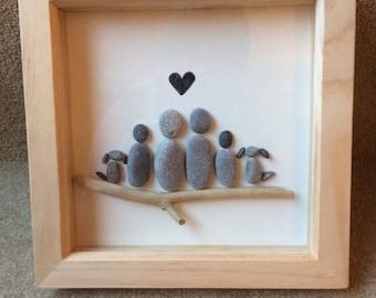 Pebble art - Family