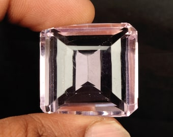 Brazilian Baby Pink Topaz 133.00 Ct. Faceted Square Cut Pink Topaz, Pendant Size Pink Topaz, Jewelry Making Pink Topaz Loose Gemstone BK-153