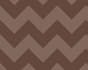 "Large CHEVRON  ~  BROWN Tone- on-Tone ~ 100% Cotton Fabric ~ 1/2 Yard Cut ~ 18"" x 44"" Riley Blake Designs  ~ C390-91"