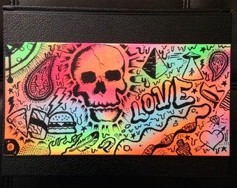 Art, spray paint, color, panel, canvas, marker,