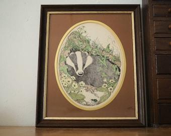 Badger Print - Illustration by Sheila Mannes-Abbott