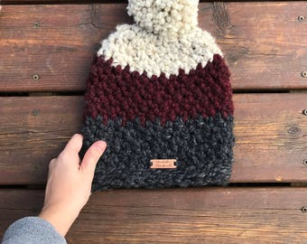 Large Pom beanie/winter hat