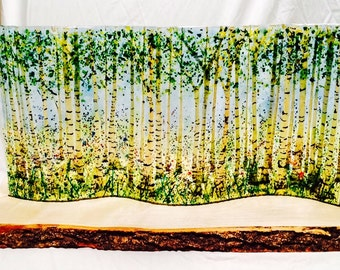 Bluebell Wood in Fused glass
