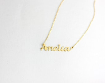 Name Necklace, Personalized Name Necklace, Custom Name Necklace, My Name Necklace, Dainty Name Necklace, Mom Jewelry, Gift for Mother SN0224