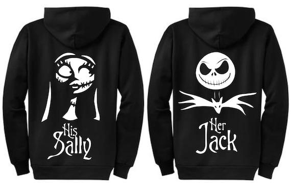 Personalized Nightmare Before Christmas Couple Shirts - Sweatshirts - Hoodies - Jack Skellington - Sally 3d6Qi0
