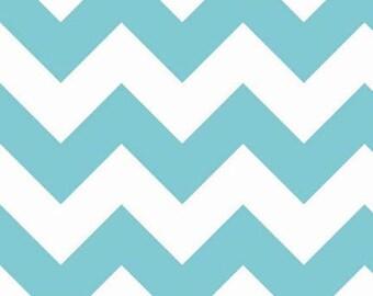 Riley Blake große Aqua Blue Chevron Stoff-1/2-Hof