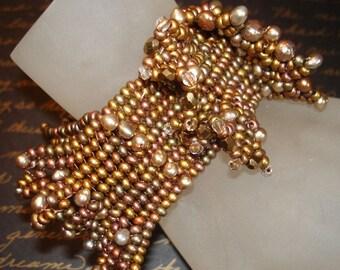 The Diva Beadwoven Bracelet    In Memory of Tangerine