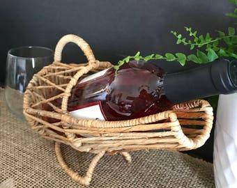 Wine caddy wicker