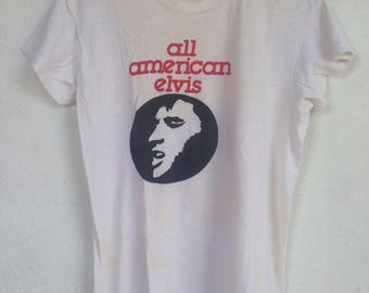 Rare vintage Elvis Presley all american elvis 60s 70s tshirt M