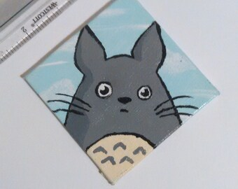 Hand painted Totoro magnet