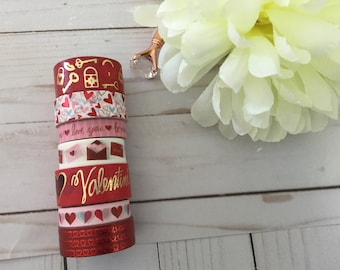 "Valentine Washi Tape Samples | 24"" sample"