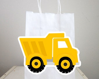 Dump Truck Goody Bags, Dump Truck Goody Bags, Construction Birthday Goody Bags, Construction Goody Bags