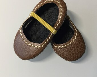 Hearts 4 Hearts Doll Shoes NEW SIZE! Brown Faux Leather Ready To Ship