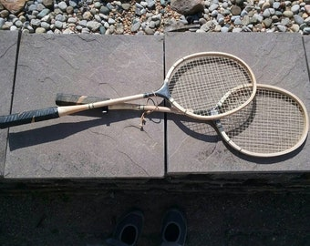 Vintage Badmitten Racquets; Vintage Sports Equipment; Outdoor Games; Raquets; Vintage Racquets; Decorations; Set of 2; Ready to Ship