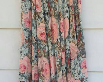 Double sided floral flowing skirt