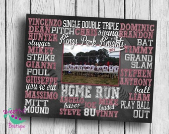Customized BASEBALL coach picture gift, personalized baseball gift, baseball subway art, coach art, coach print, DIGITAL IMAGE
