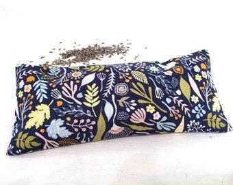 Organic Lavender Eye Pillow, spa accessories, aromatherapy heat pack, meditation, yoga gift, yoga accessory, relaxation, restorative