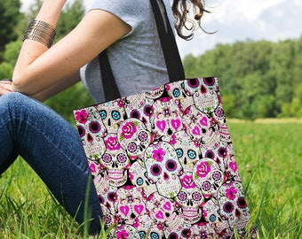 Party Skulls Canvas Tote Bag