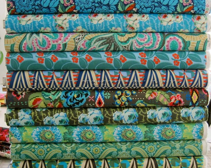 """12 YARD Bundle - 36"""" x 44"""" - """"Night Music"""" Colors - Amy Butler HAPI Fabric - Brand New Collection 12 Yards"""
