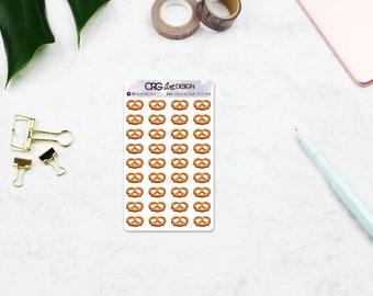 Pretzel Stickers   Planner Erin Condren Filofax Travelers Notebook