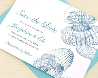 Jellyfish Save the Date for your Beach Wedding