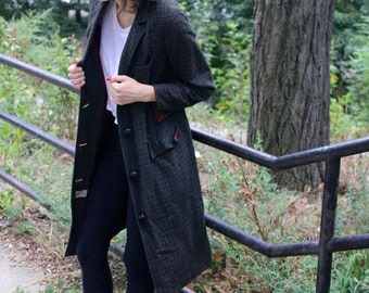 Vintage Long Grey Light Coat
