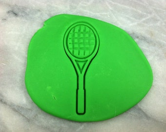 Tennis Racket Cookie Cutter - SHARP EDGES - FAST Shipping - Choose Your Own Size!