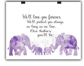 Nursery Decor Baby Room Decor Nursery Printable A2 Poster Nursery Poster Wall Art Elephant Nursery Decor Elephant Printable Wall Art