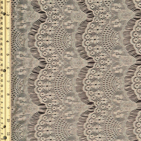 tan stretch eyelash lace fabric by the yard or wholesale 1. Black Bedroom Furniture Sets. Home Design Ideas