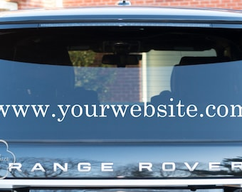 Business Car Decal Website Decal Auto Vinyl Decal - Business Auto Decal - Car Graphics - Vinyl Lettering