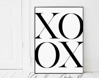 xoox, xo, xo Print, xo Poster, xo Typography, xo Text, xo Typography Art, Minimalist, Modern Minimalist Art, xoox Poster, xoox Wall Art