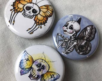 Set of 3 scullerfly pins