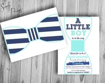Baby Shower Bow Tie Digital