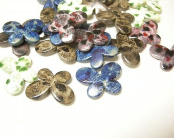 12pc mix color acrylic butterfly beads-6102