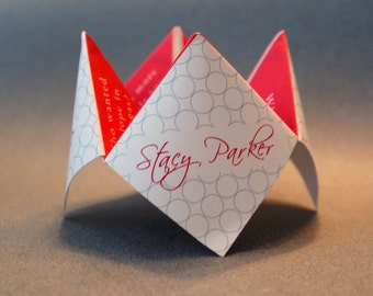 Wedding Favor, Cootie Catcher, Wedding Decoration, Wedding Invitation, Wedding Program, Personalized, Party, Origami, DIY, Menu, Custom
