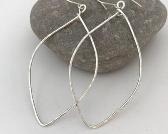 Sarabeth silver leaves earrings