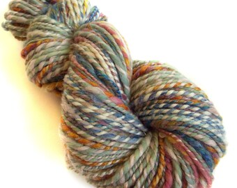 Chunky yarn hand dyed yarn handspun yarn merino wool yarn chunky wool bulky yarn weaving yarn bulky wool yarn handspun art yarn