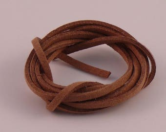 3mm x 1.5 mm light brown suede cord