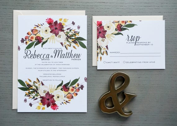 Cescaphe Wedding Invitation